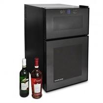 Klarstein Vinoteca (24 Botellas, 68 litros, 2 Compartimentos de refrigeración Independiente)