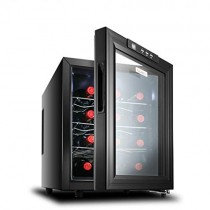 Lxn Enfriador de Vino Negro de 12 Botellas | Encimera de Vino de encimera